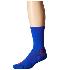 Thorlos Experia U.S.A Crew 3 Pair Pack U.S.A. Crew Cut Socks Shoes Blue