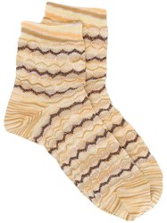 Missoni Short Knitted Socks Yellow