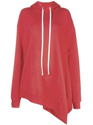 Unravel Project Oversized Long Hoodie Red