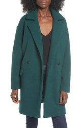 Leith Oversize Double Breasted Coat Green Bug