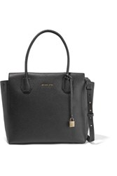 Michael Michael Kors Mercer Textured Leather Shoulder Bag Black