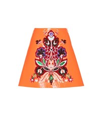 Miu Miu Embellished Faux Leather Skirt Orange
