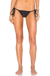 My Own Summer Arpoador Ruffle Edge Bikini Bottom Black