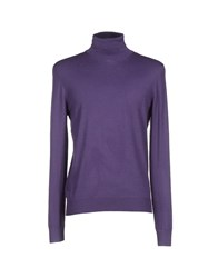 Kaos Knitwear Turtlenecks Men Purple