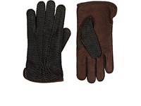Barneys New York Men's Suede Gloves Grey
