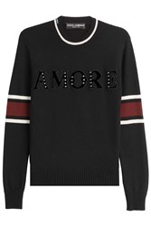 Dolce And Gabbana Embellished Pullover Black