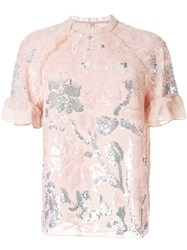 Needle And Thread T Shirt With Embroidered Details Pink