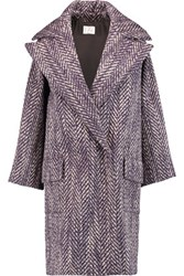 Stella Jean Boucle Coat Dark Purple