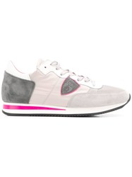 Philippe Model Panelled Lace Up Sneakers Grey