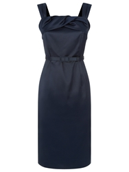 Kaliko Satin Twist Shift Dress Navy