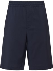 Prada Poplin Tailored Shorts Blue