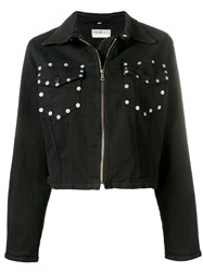 Fiorucci Popper Pocket Denim Jacket Black