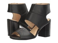 Hush Puppies Sherlyn Malia Black Leather Women's Wedge Shoes