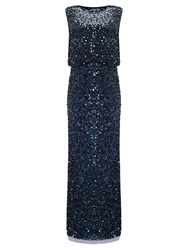 Phase Eight Cleo Sequin Full Length Dress Midnight