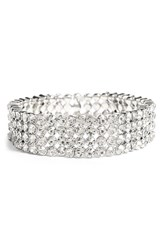 Women's Tasha Jeweled Stretch Bracelet Silver