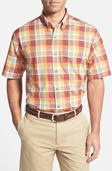 Cutter U0026 Buck 'Youngstown Plaid' Classic Fit Short Sleeve Sport Shirt Big And Tall Red Multi