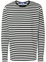 Junya Watanabe Man Striped Jumper Black