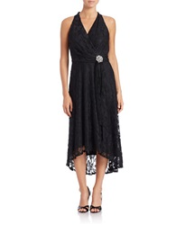 Chetta B Hi Lo Lace Dress Black