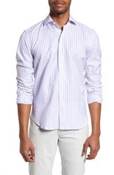 Culturata Tailored Fit Washed Gingham Sport Shirt Pink