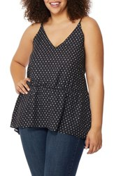Rebel Wilson X Angels Plus Size Women's Print High Low Tank Mini Polka Dot