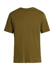 Oamc Paracord Cotton Jersey T Shirt Khaki