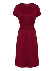 Hotsquash Midi Office Ponte Dress In Clever Fabric Red