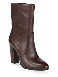 Saks Fifth Avenue Harper Leather Booties Mulberry