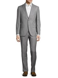 Black Brown Jack Wool Blazer And Pants Suit Grey