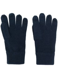 Tommy Hilfiger Knitted Gloves Blue