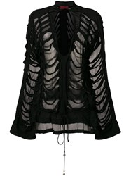 Di Liborio Slashed Blouse Black