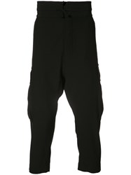 Vivienne Westwood Man Drawstring Waist Cropped Trousers Black