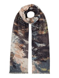 Label Lab Double Sided Painted Print Scarf Multi Coloured Multi Coloured