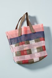 Epice Aviana Plaid Tote Bag Pink
