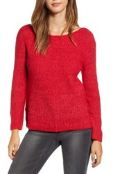 Leith Cozy Femme Pullover Sweater Red Lipstick Heather
