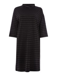 Part Two Relaxed Fit Dress Made From A Soft And Stretchy F Black