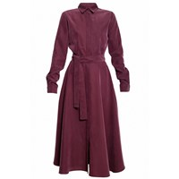 Undress Purple Circle Skirt Midi Shirt Dress Pink Purple