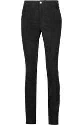 Mih Jeans M.I.H Cotton Blend Velvet Skinny Pants Black