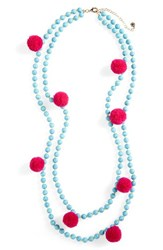 Baublebar Women's Grenada Double Strand Pompom Necklace Turquoise