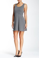 Bcbgeneration Knit Fit And Flare Dress Gray