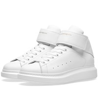 Alexander Mcqueen Wedge Sole Strap High Sneaker White