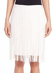 Elie Tahari Olsen Fringed Skirt Black