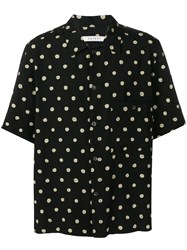 Covert Polka Dot Print Half Sleeve Shirt Black