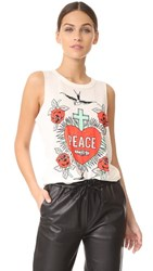 Chaser Peace And Love Tank Vintage White