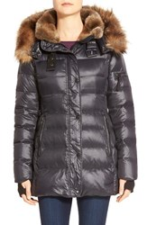 Women's S13 Nyc 'Mulberry' Faux Fur Trim Puffer Coat