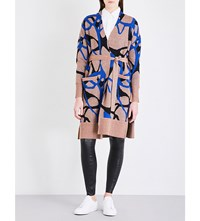 By Malene Birger Abstract Patterned Knitted Cardigan Cobalt