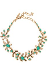 Oscar De La Renta Sea Tangle Gold Tone Resin Necklace