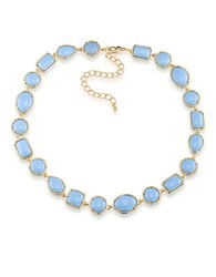 1St And Gorgeous Cabochon Stone Collar Necklace Sky Blue