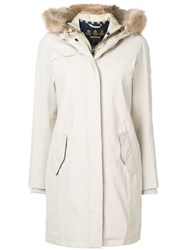 Barbour Fur Hood Trim Parka Neutrals
