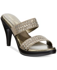 Athena Alexander By Callisto Grayson Slide Dress Sandals Women's Shoes Pewter