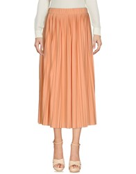 Le Mont St Michel 3 4 Length Skirts Salmon Pink